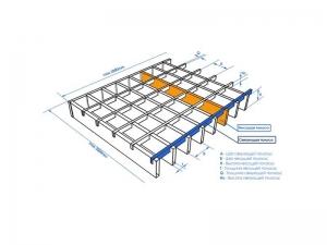 оцинкованная прессованная решетка 500х1000х33х33 мм высота 30 мм