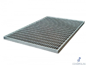 Оцинкованная прессованная решетка 390х590х33х11 мм