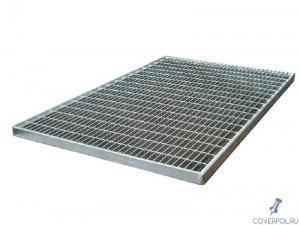 Оцинкованная прессованная решетка 490х990х33х11 мм