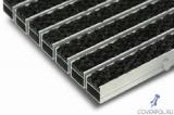 входные алюминиевые грязезащитные решетки