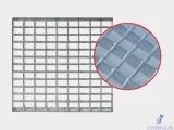 сварной решетчатый настил (оцинкованный) 6100х1000-34х76-30х3 мм