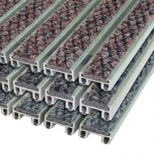 Алюминиевая решетка с грязезащитными вставками